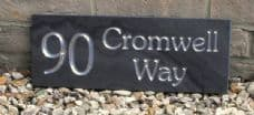 Solid slate house name sign / address plate – 400mm x 150mm; 15.7 inches x 5.9 inches
